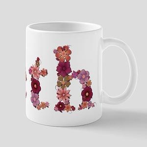 Beth Pink Flowers Mugs