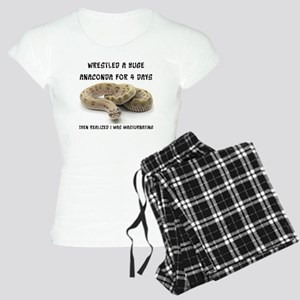 Wrestled A Huge Anaconda Women's Light Pajamas