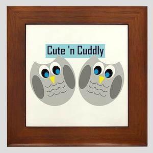 Cute n Cuddly Framed Tile