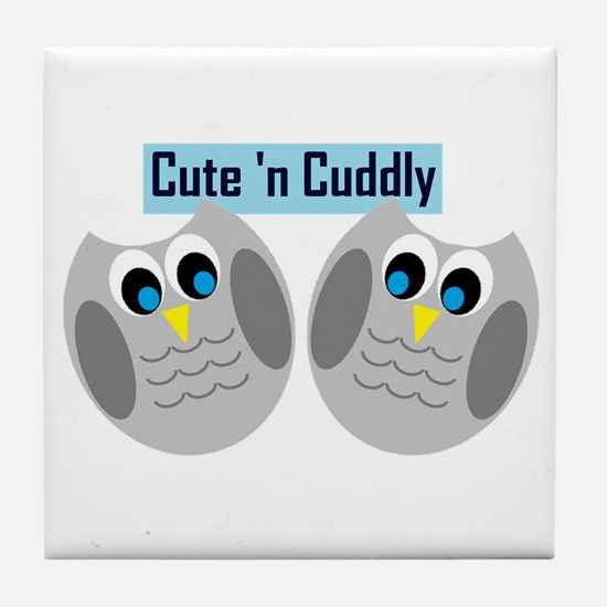 Cute n Cuddly Tile Coaster
