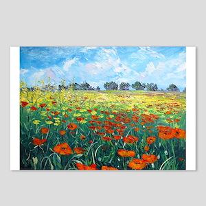Poppy Field Postcards (Package of 8)