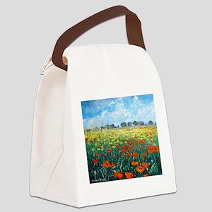 Poppy Field Canvas Lunch Bag