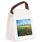Poppy Field Canvas Lunch Bag