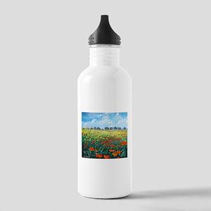 Poppy Field Sports Water Bottle