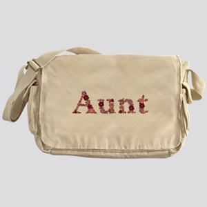 Aunt Pink Flowers Messenger Bag