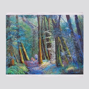 Bush Walk Throw Blanket