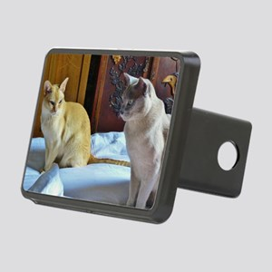 Red and Lilac Burmese Cats Rectangular Hitch Cover
