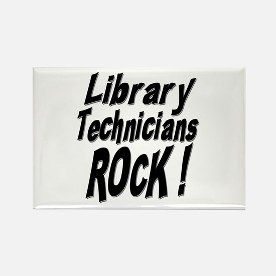 Library Techs Rock ! Rectangle Magnet