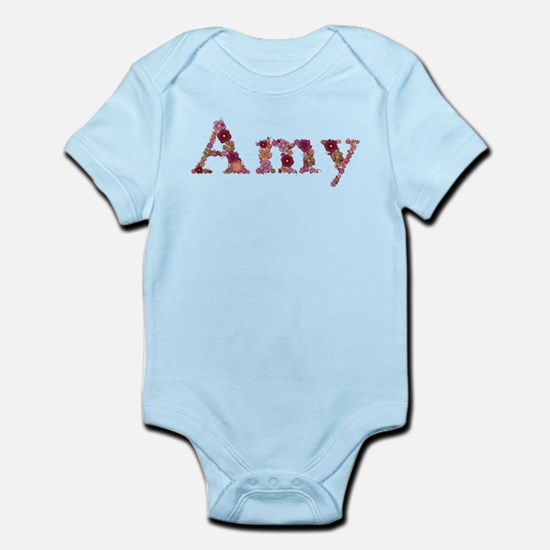 Amy Pink Flowers Body Suit