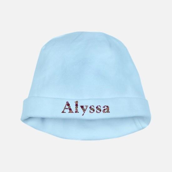 Alyssa Pink Flowers baby hat