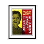 Hillary Clinton Is Scary Framed Panel Print
