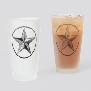 Silver Lone Star Drinking Glass