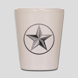 Silver Lone Star Shot Glass