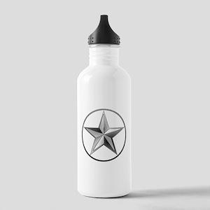 Silver Lone Star Water Bottle