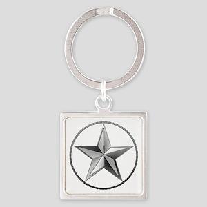 Silver Lone Star Keychains