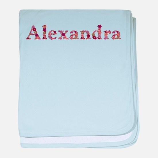 Alexandra Pink Flowers baby blanket
