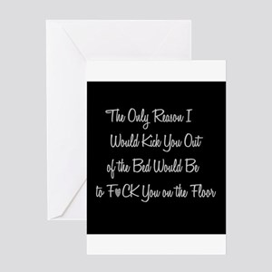 Naughty greeting cards cafepress naughty fck on the floor greeting cards m4hsunfo