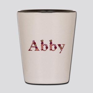 Abby Pink Flowers Shot Glass