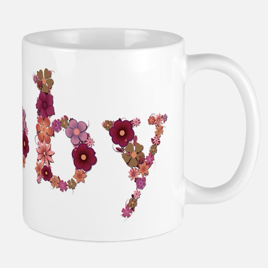 Abby Pink Flowers Mugs