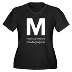 Manual Mode Photographer Plus Size T-Shirt