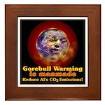 Gorebull Global Warming Framed Tile