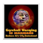 Gorebull Global Warming Tile Coaster