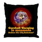 Gorebull Global Warming Throw Pillow