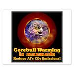 Gorebull Global Warming Small Poster