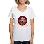 Gorebull Global Warming Women's V-Neck T-Shirt