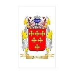 Fedenev Sticker (Rectangle 50 pk)
