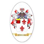 Feddercke Sticker (Oval)
