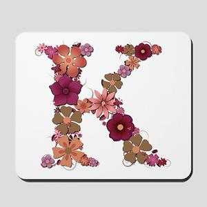K Pink Flowers Mousepad