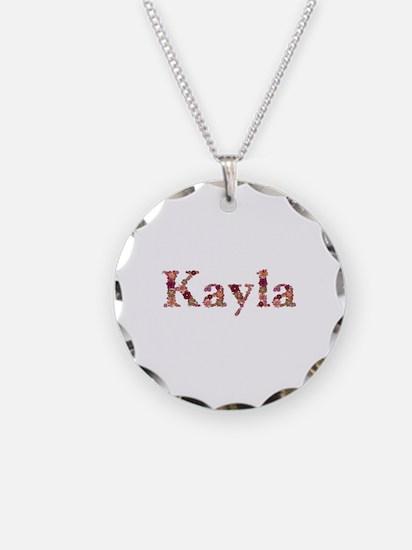 Kayla Pink Flowers Necklace