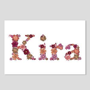 Kira Pink Flowers Postcards 8 Pack