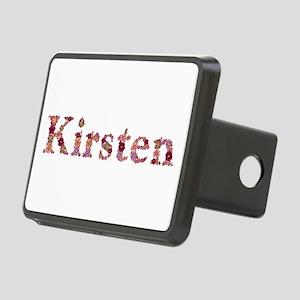 Kirsten Pink Flowers Rectangular Hitch Cover