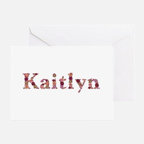 Kaitlyn Pink Flowers Greeting Card