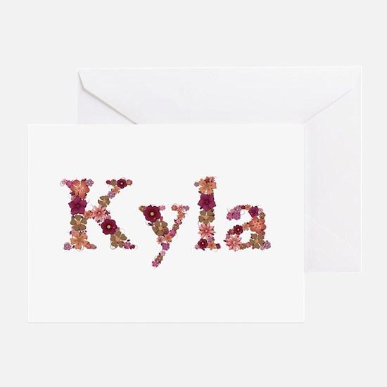 Kyla Pink Flowers Greeting Card