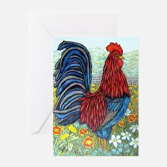 'Rooster' Kraft Original Greeting Card