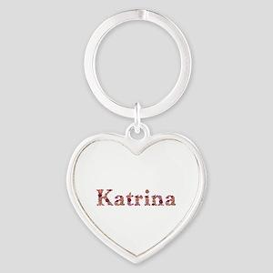 Katrina Pink Flowers Heart Keychain