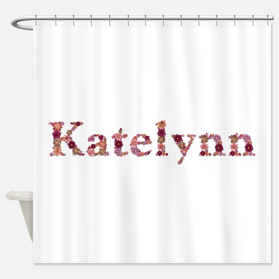 Katelynn Pink Flowers Shower Curtain