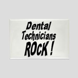 Dental Techs Rock ! Rectangle Magnet