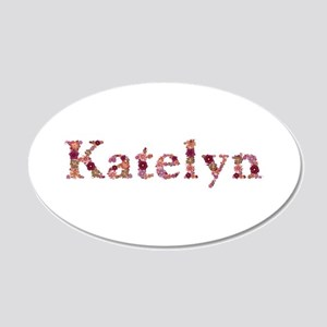 Katelyn Pink Flowers 20x12 Oval Wall Decal
