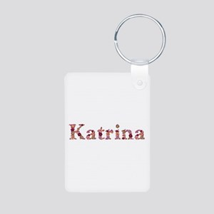 Katrina Pink Flowers Aluminum Keychain