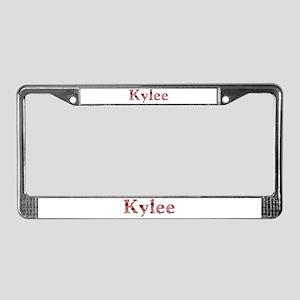 Kylee Pink Flowers License Plate Frame