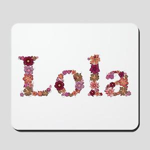 Lola Pink Flowers Mousepad