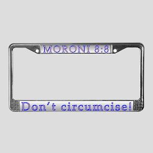 Mormon License Plate Frame
