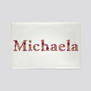Michaela Pink Flowers Rectangle Magnet