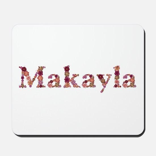 Makayla Pink Flowers Mousepad