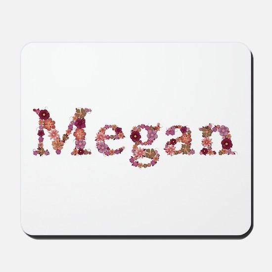 Megan Pink Flowers Mousepad