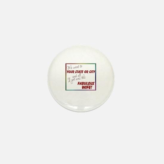 Fabulous Wife (Personalized) Mini Button